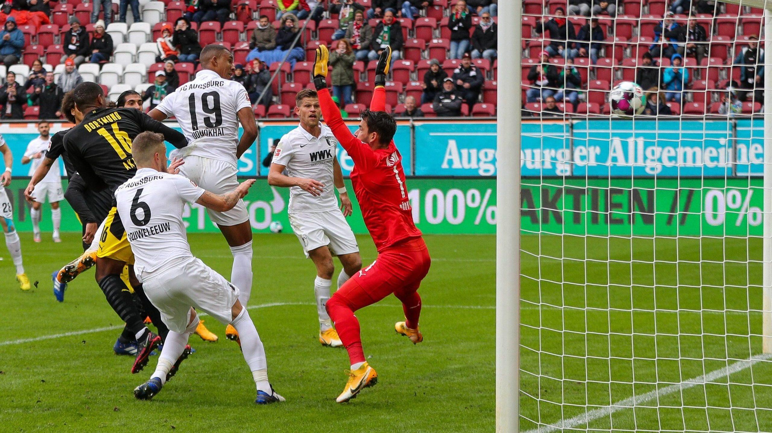 2:0: Hoch effektive Augsburger schocken Dortmund