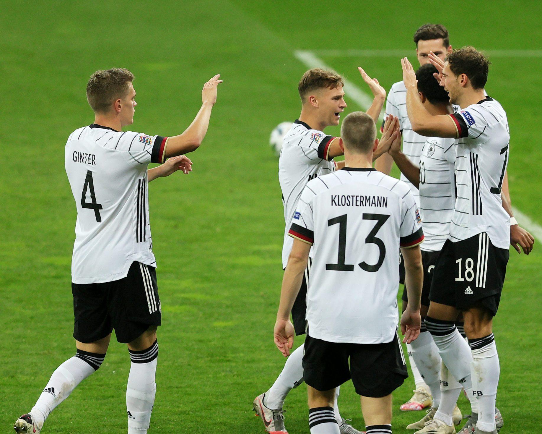 Bundesliga Leon Goretzka And Matthias Ginter Fire Germany To Victory In Ukraine