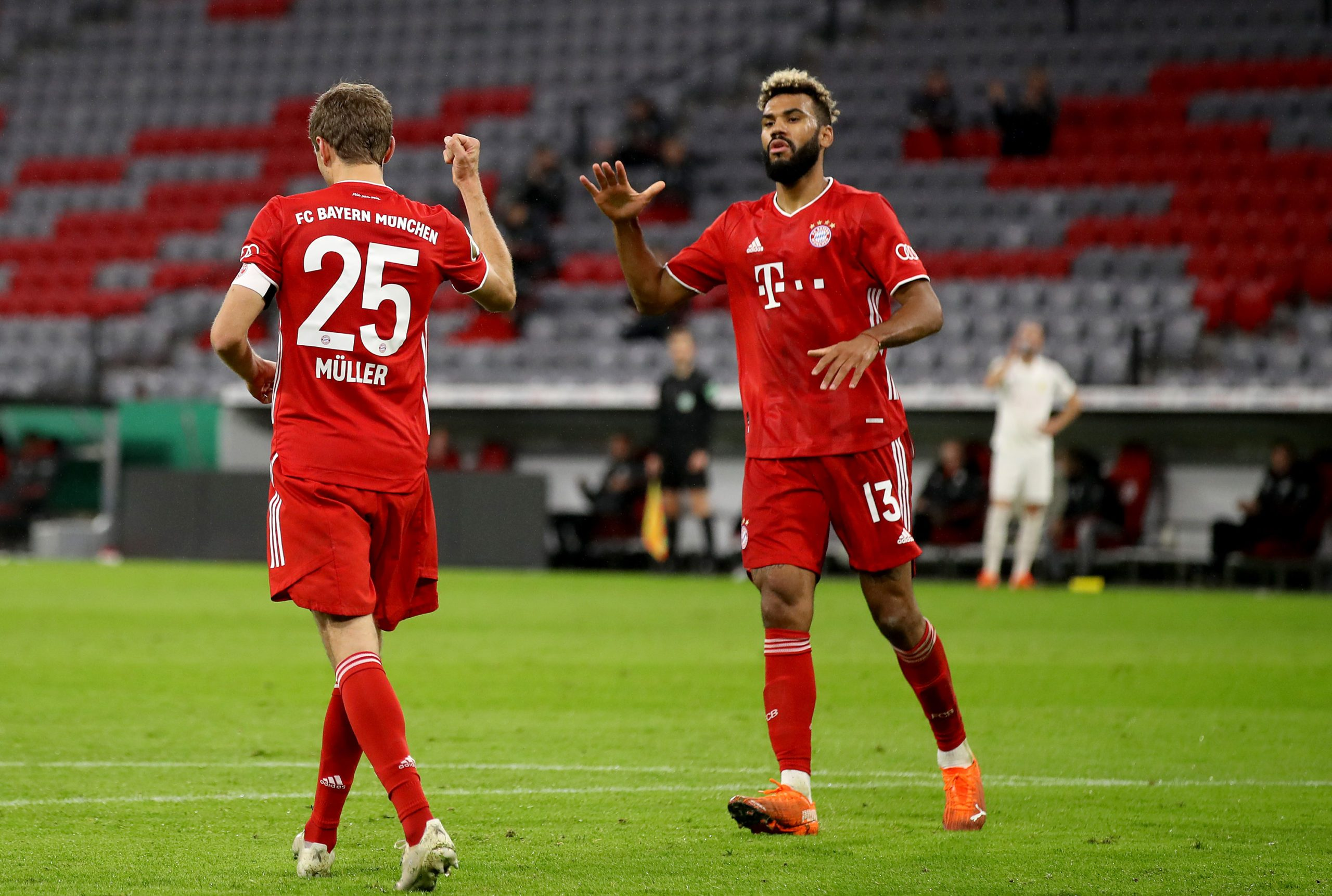 Bundesliga Thomas M ller And Eric Maxim Choupo Moting Send Bayern Munich Into DFB Cup Second Round With Win Over D ren