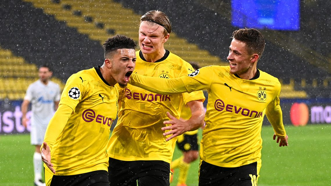 Bundesliga | Jadon Sancho and Erling Haaland on target as Borussia Dortmund beat Zenit Saint Petersburg