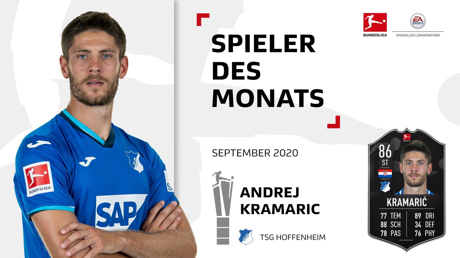 Andrej Kramaric ist Spieler des Monats September
