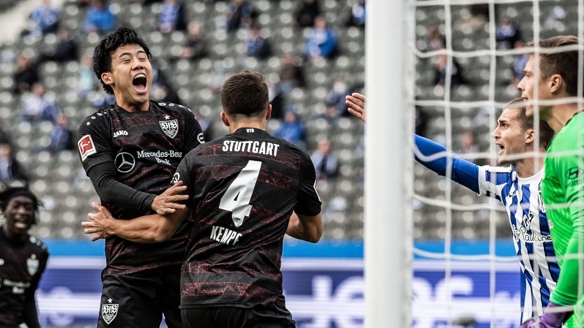 High-flying VfB Stuttgart see off Hertha Berlin