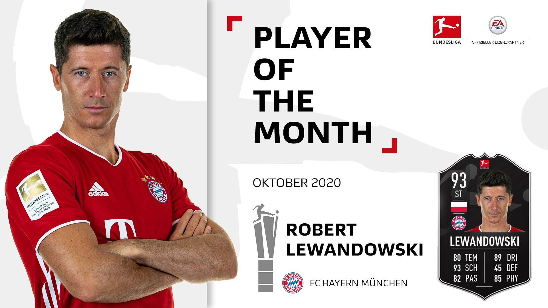 Robert Lewandowski ist Spieler des Monats Oktober