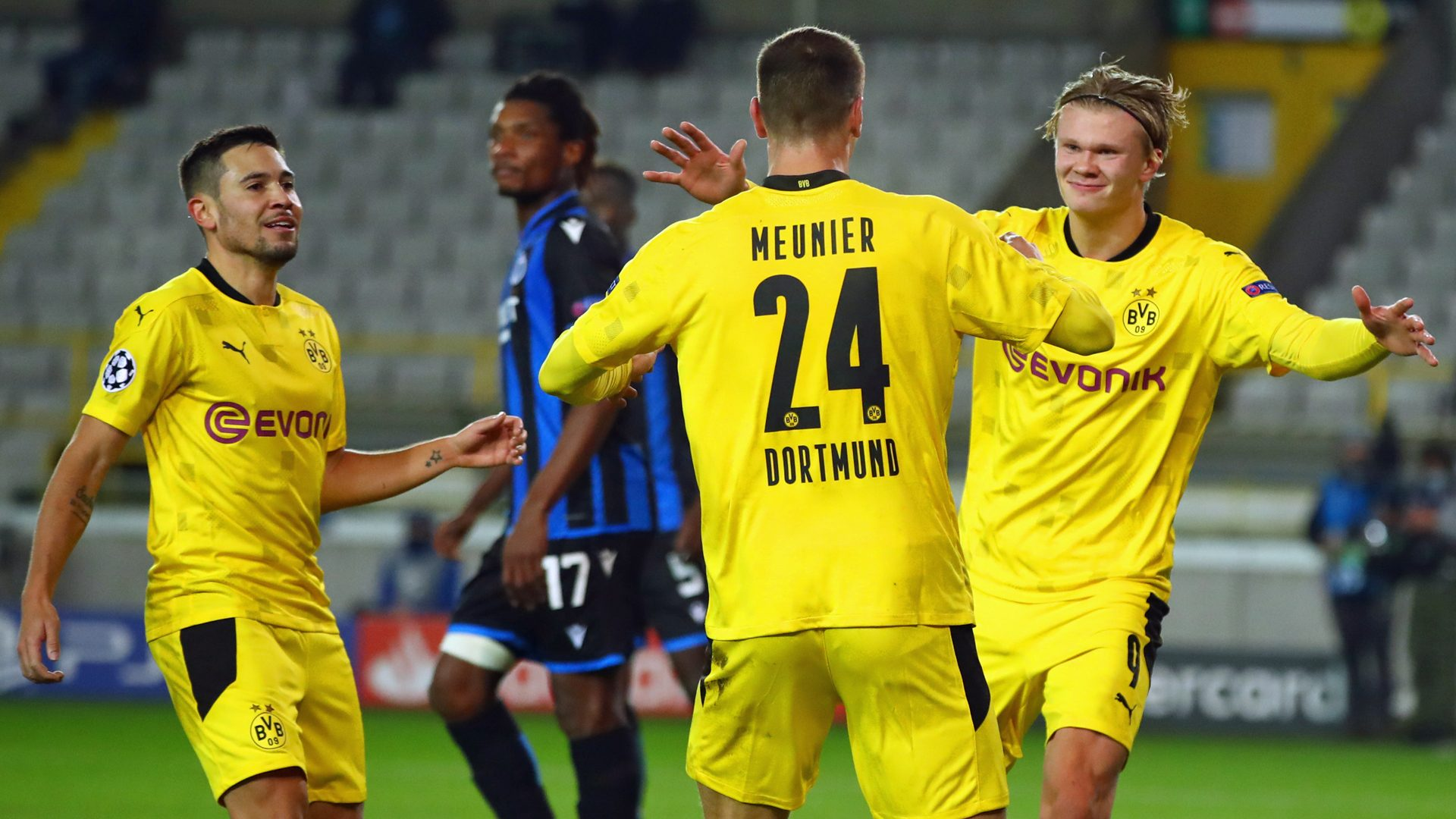 Bundesliga Erling Haaland Double Helps Borussia Dortmund To Polished Win Over Club Brugge