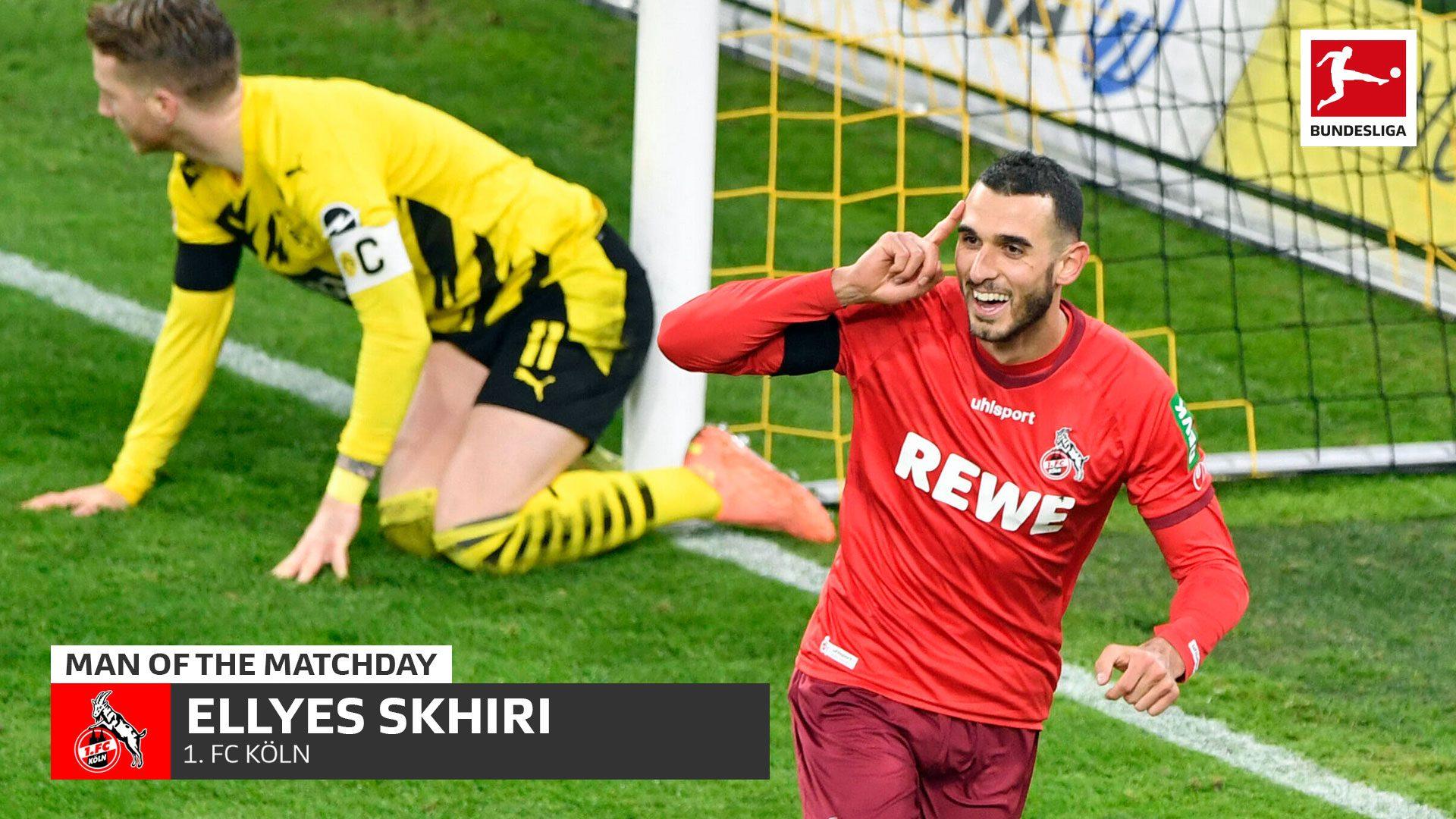 Bundesliga   Ellyes Skhiri: MD9's Man of the Matchday helping Cologne to a  historic win at Borussia Dortmund