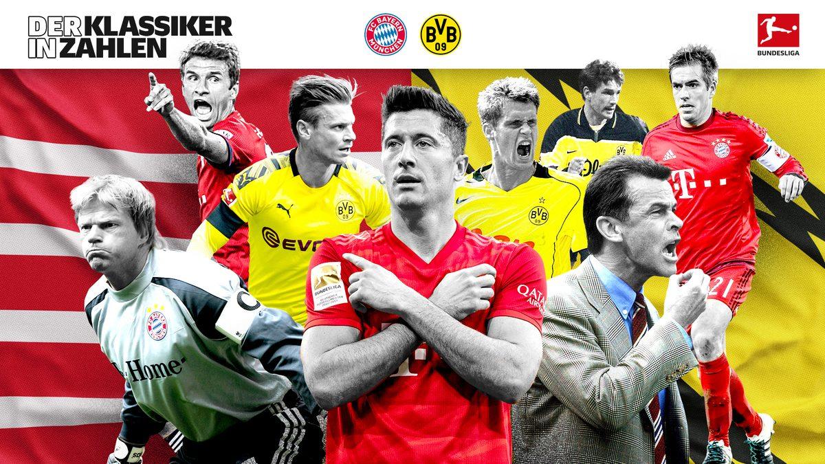 Bayern gegen Dortmund - der Klassiker in Zahlen
