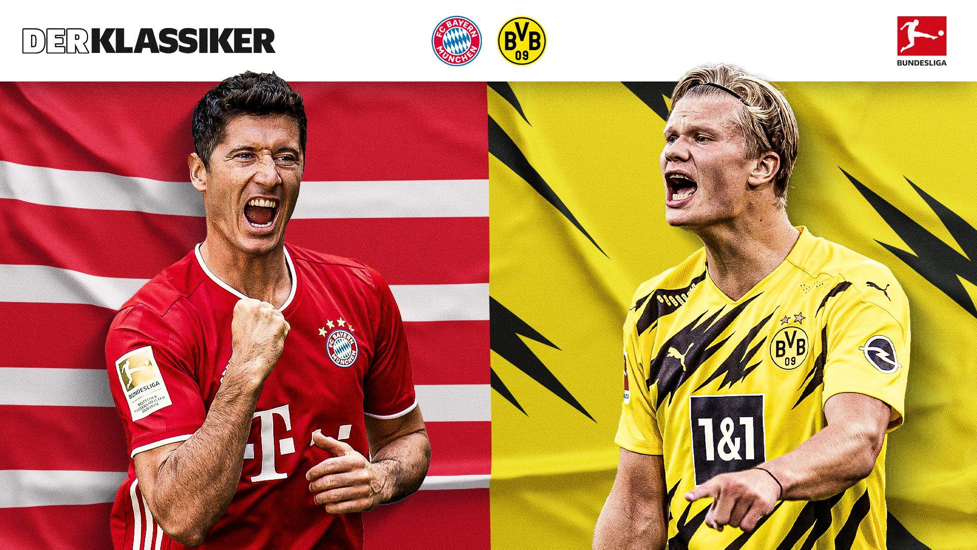 Vor dem Klassiker: Lewandowski und Haaland im Vergleich