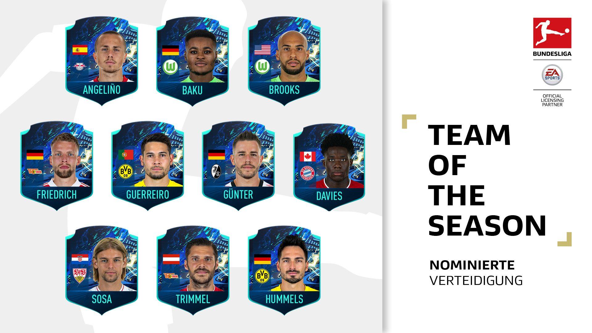 """Welche Verteidiger gehören ins """"Team of the Season""""?"""