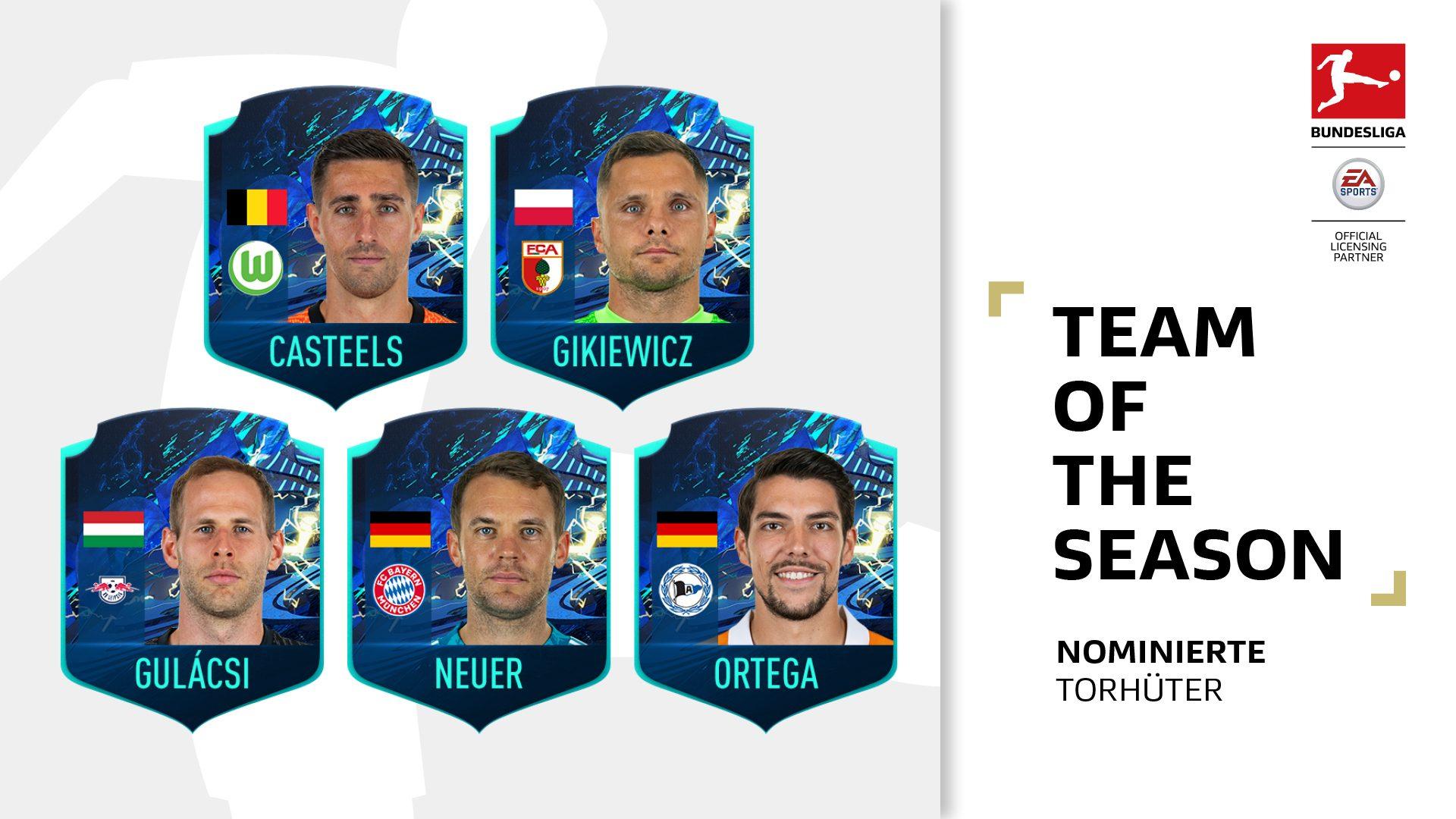"Welcher Torhüter gehört ins ""Team of the Season""?"
