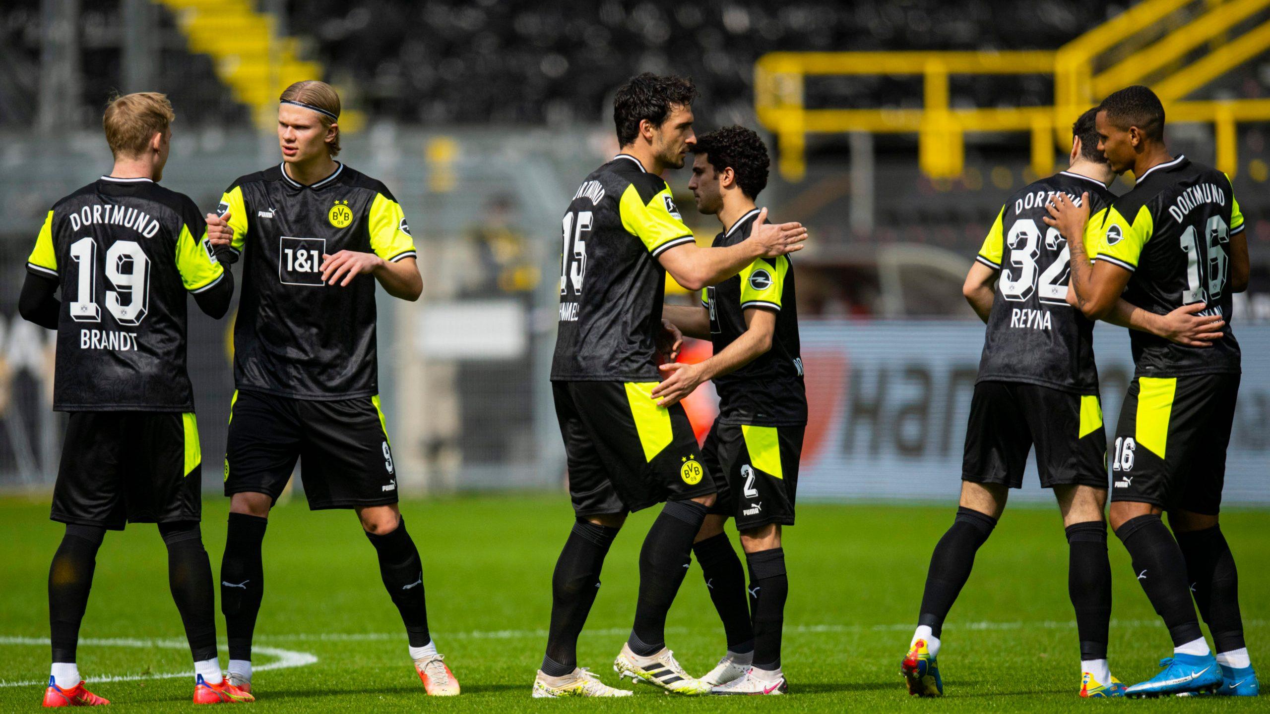 Dortmund unveil special neon kit