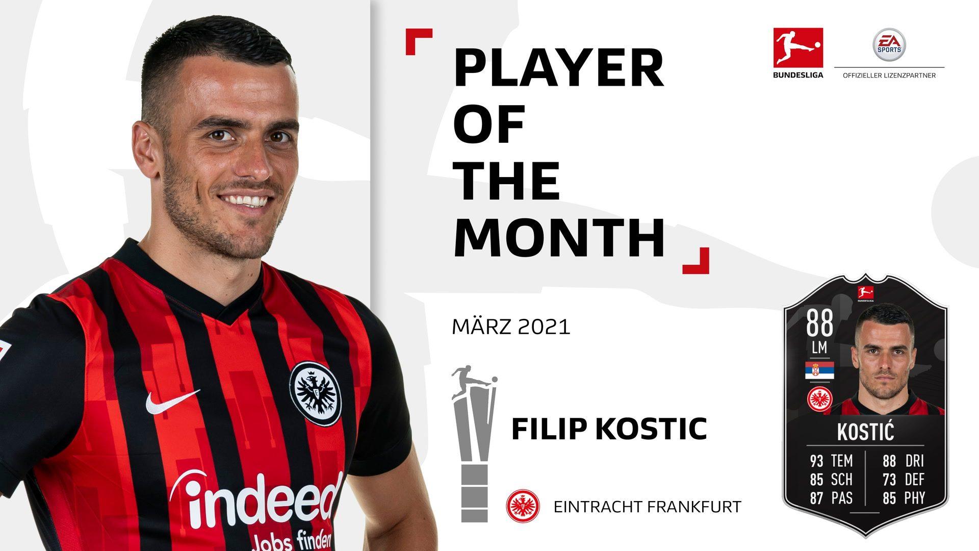 Filip Kostic ist Spieler des Monats März