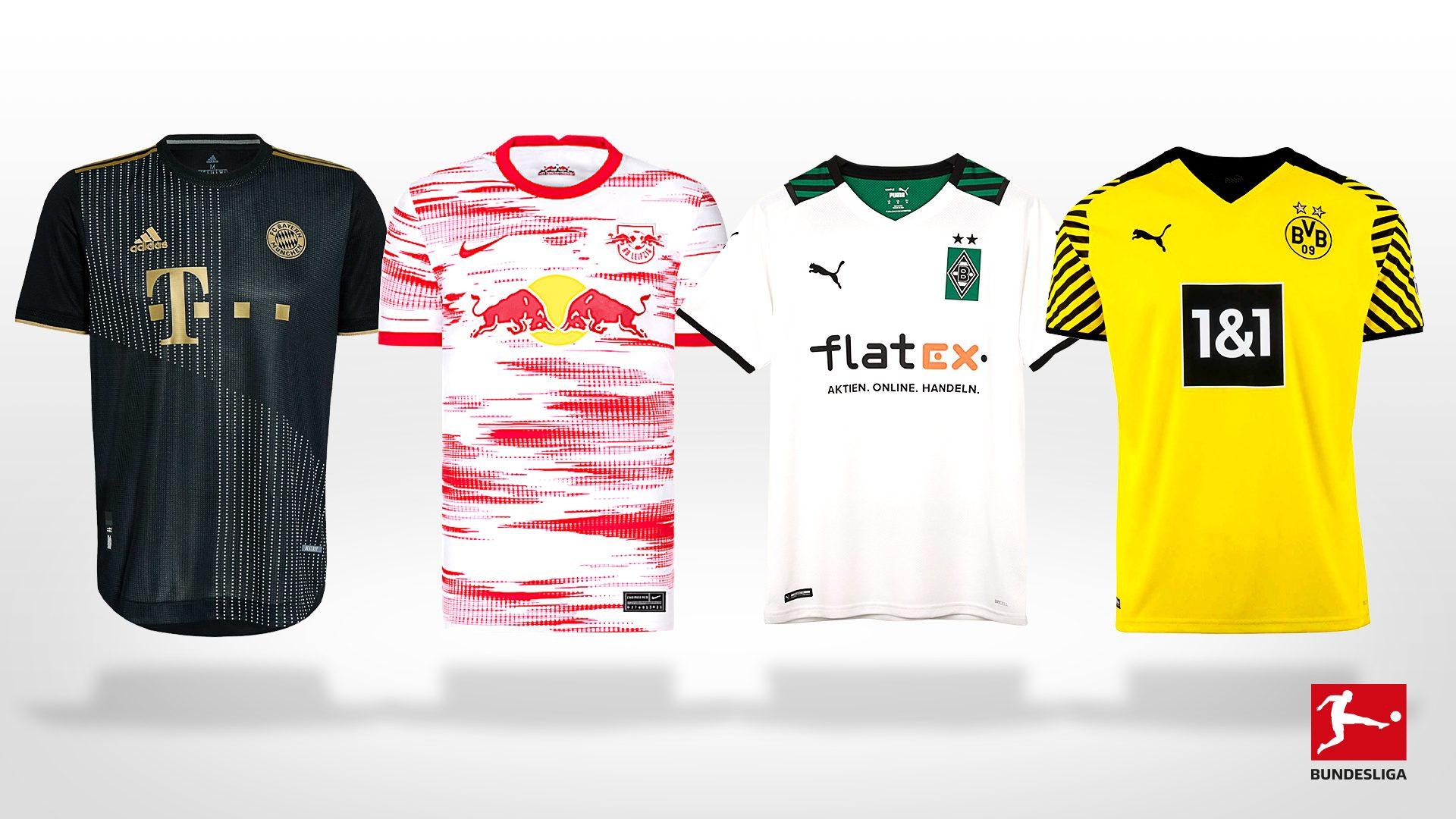 Bundesliga All The New Bundesliga Jerseys For The 2021 22 Season