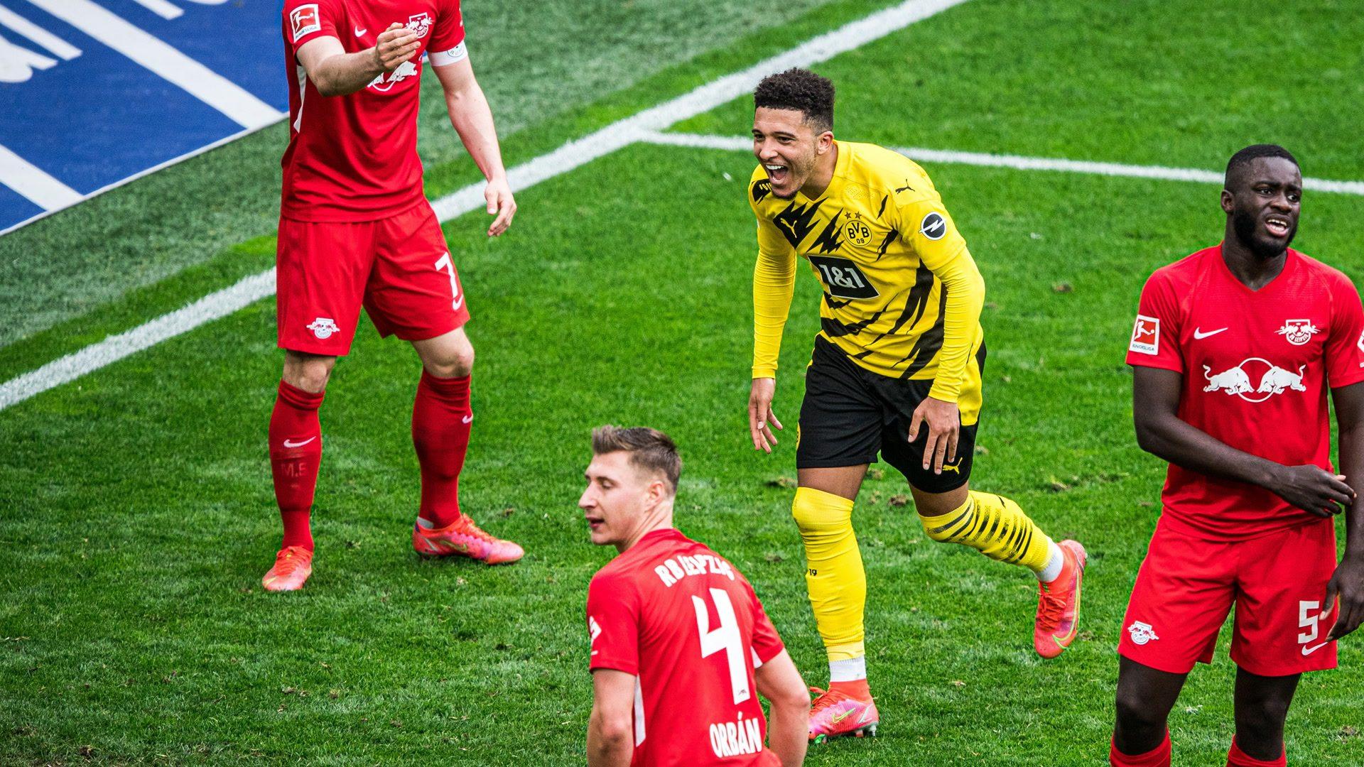 Jadon Sancho fires Dortmund into top four and ends Leipzig's title challenge