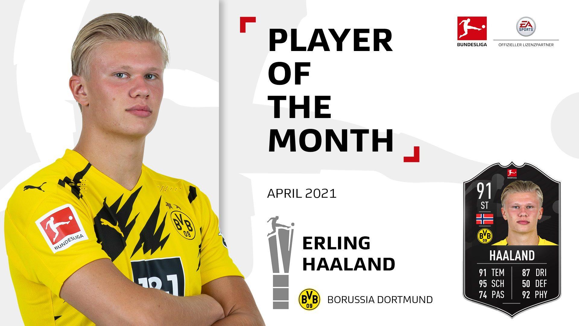 Erling Haaland ist der Spieler des Monats April