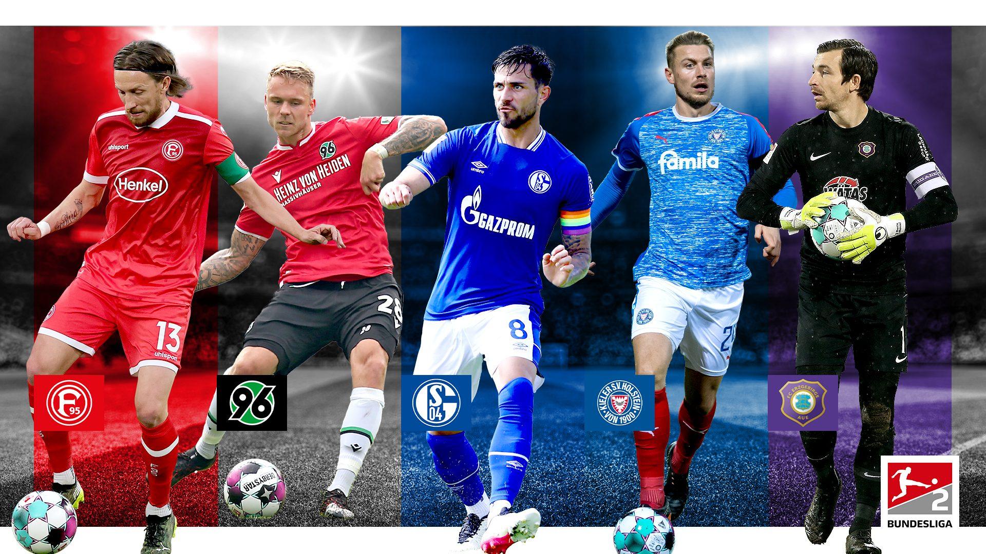 Die Kapitäne der 2. Bundesliga 2021/22