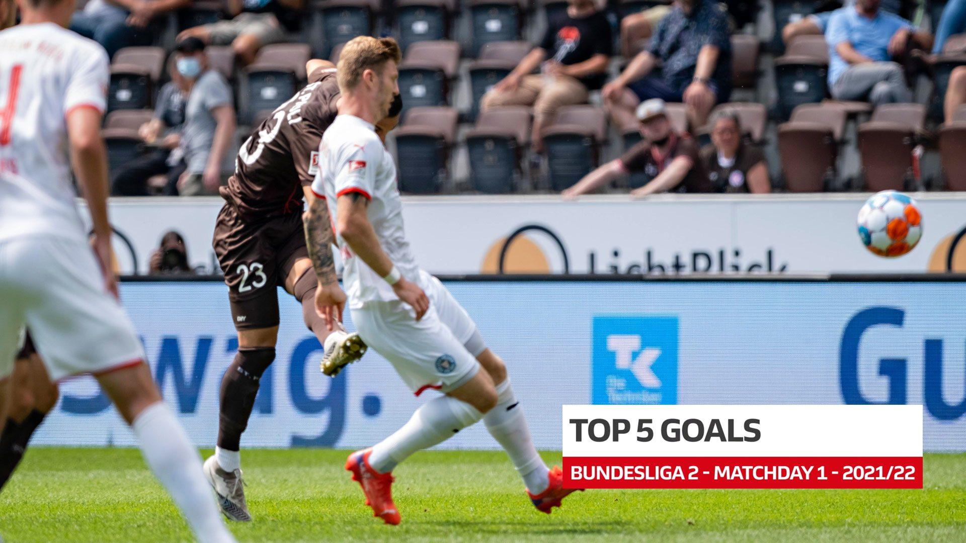 2. Bundesliga: Fünf Top-Tore des 1. Spieltags