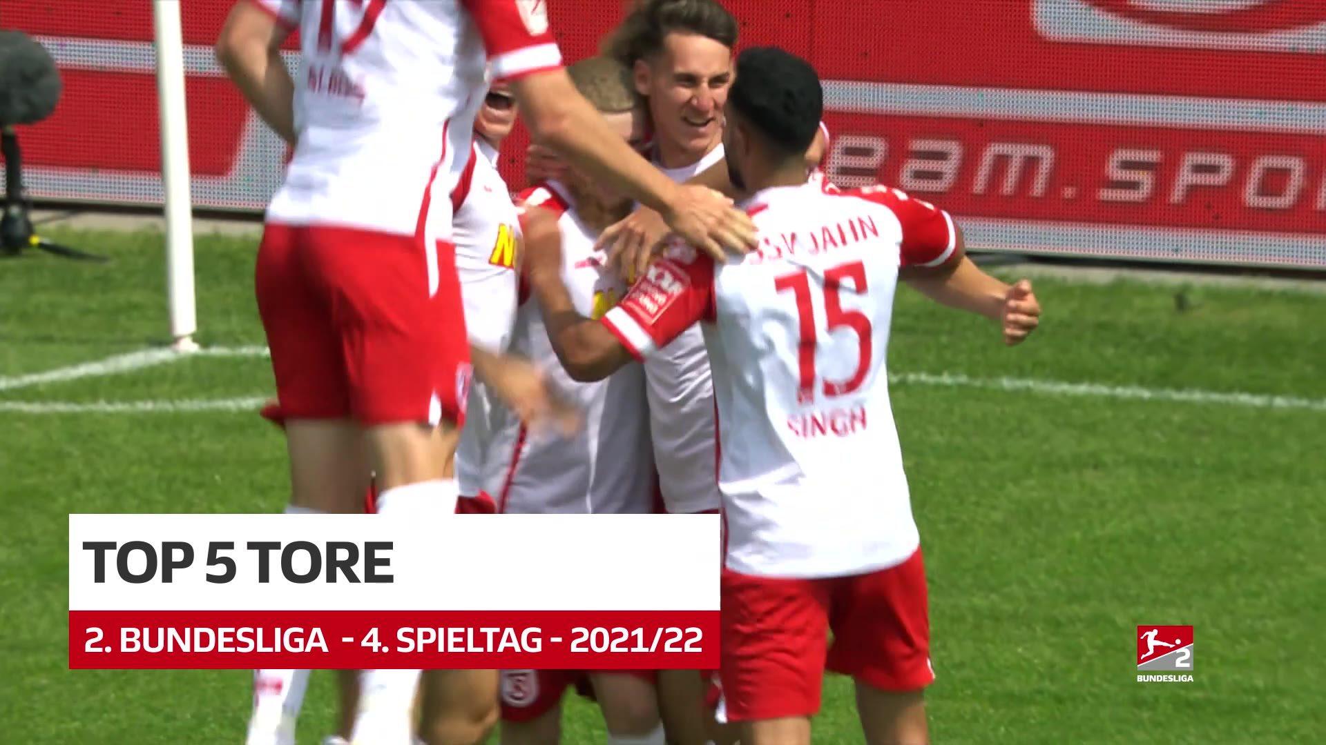 2. Bundesliga: Fünf Top-Tore des 4. Spieltags