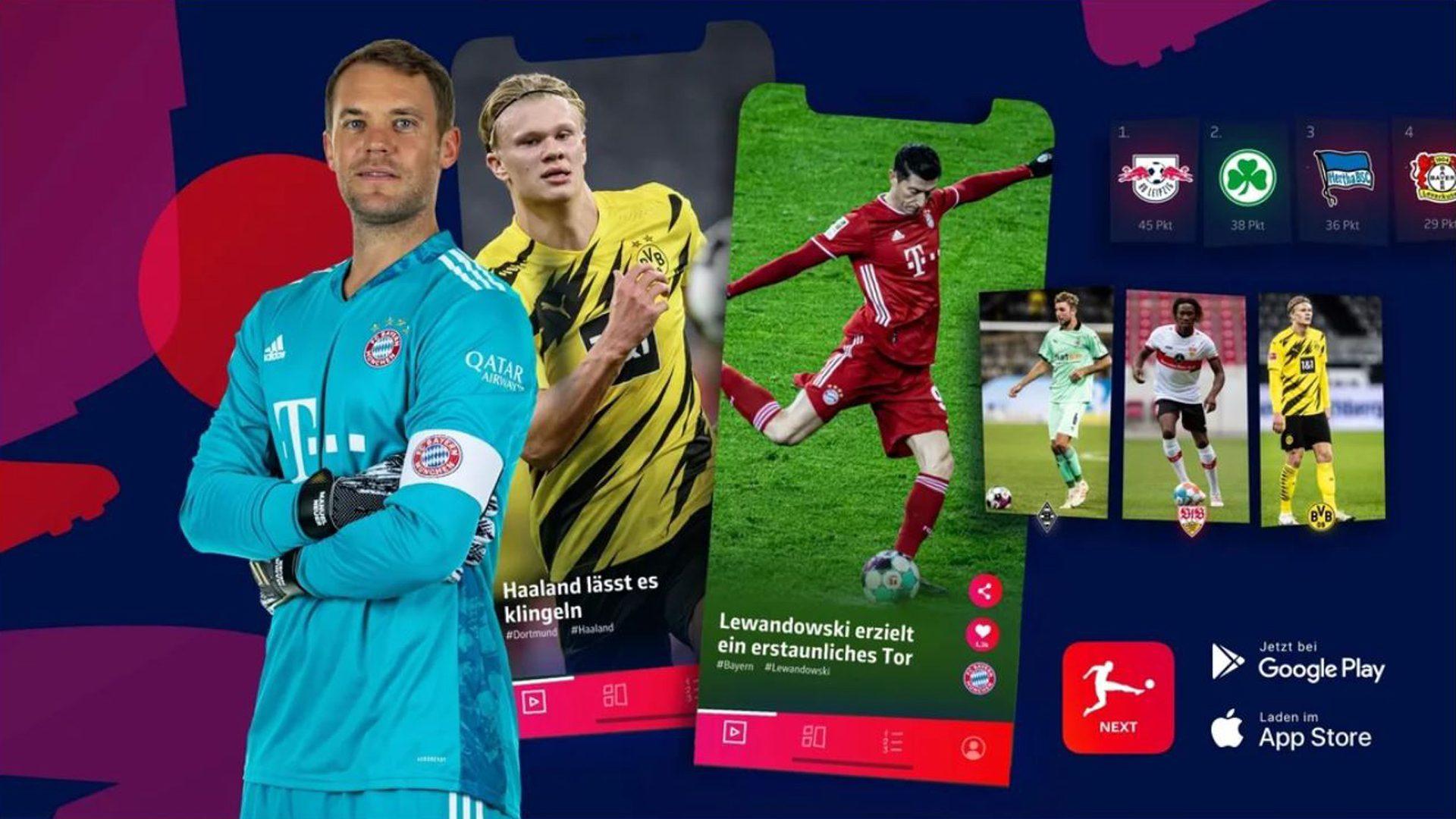 Hol dir jetzt die Die Bundesliga NextApp