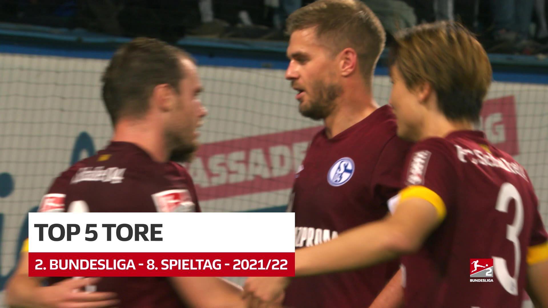 2. Bundesliga: Fünf Top-Tore des 8. Spieltags