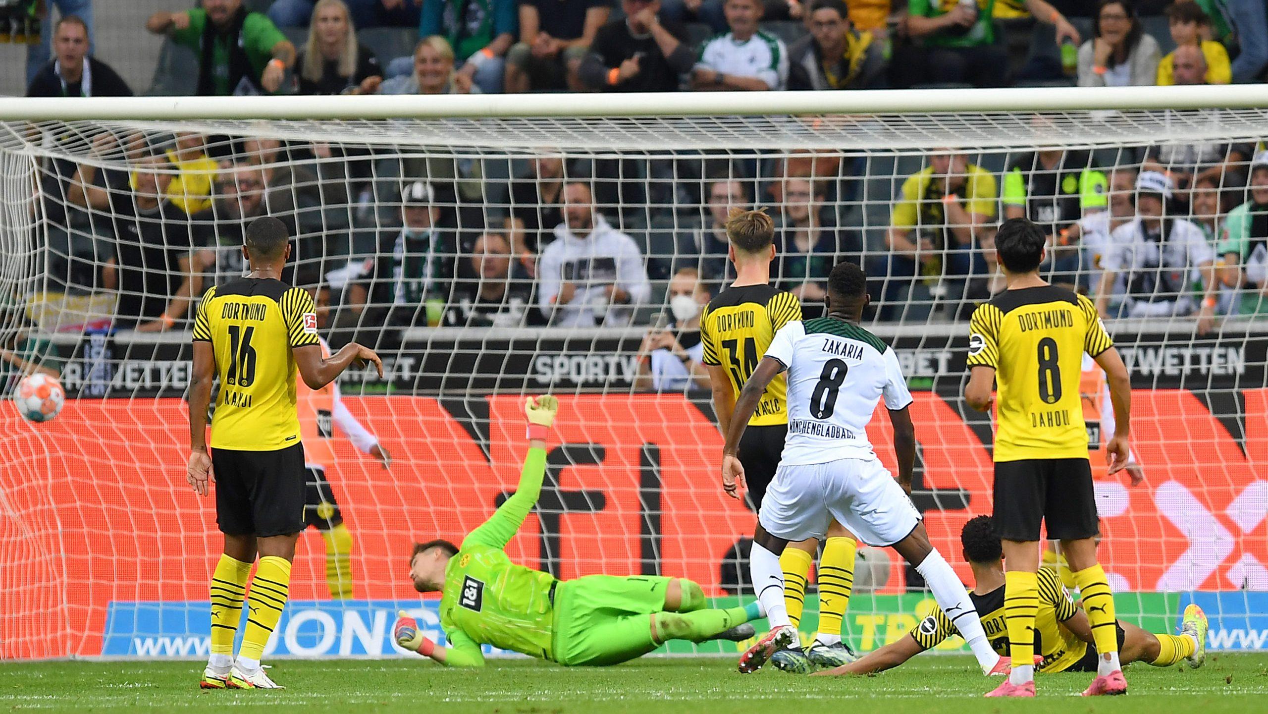 Zakaria schießt Gladbach zum Sieg gegen Dortmund