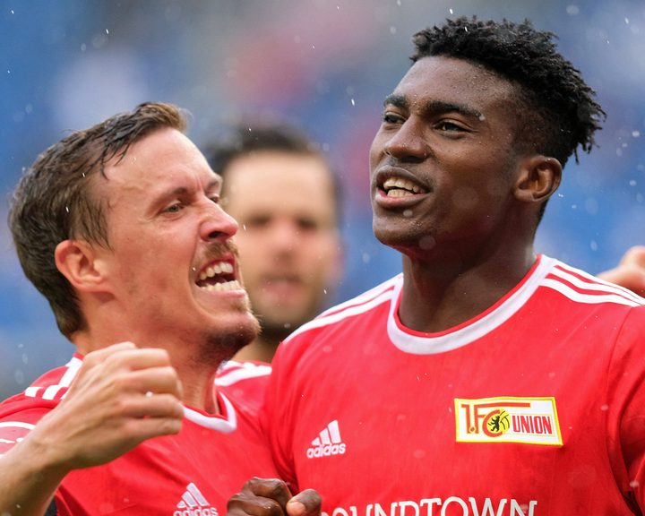 Max Kruse (l.) and Taiwo Awoniyi (r.) are the Bundesliga's new deadliest duo in attack for Union Berlin.
