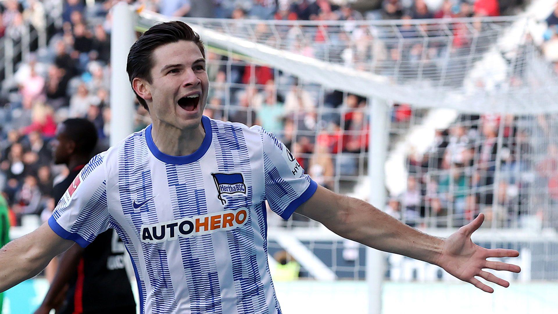 Ekkelenkamp on target as Hertha win in Frankfurt