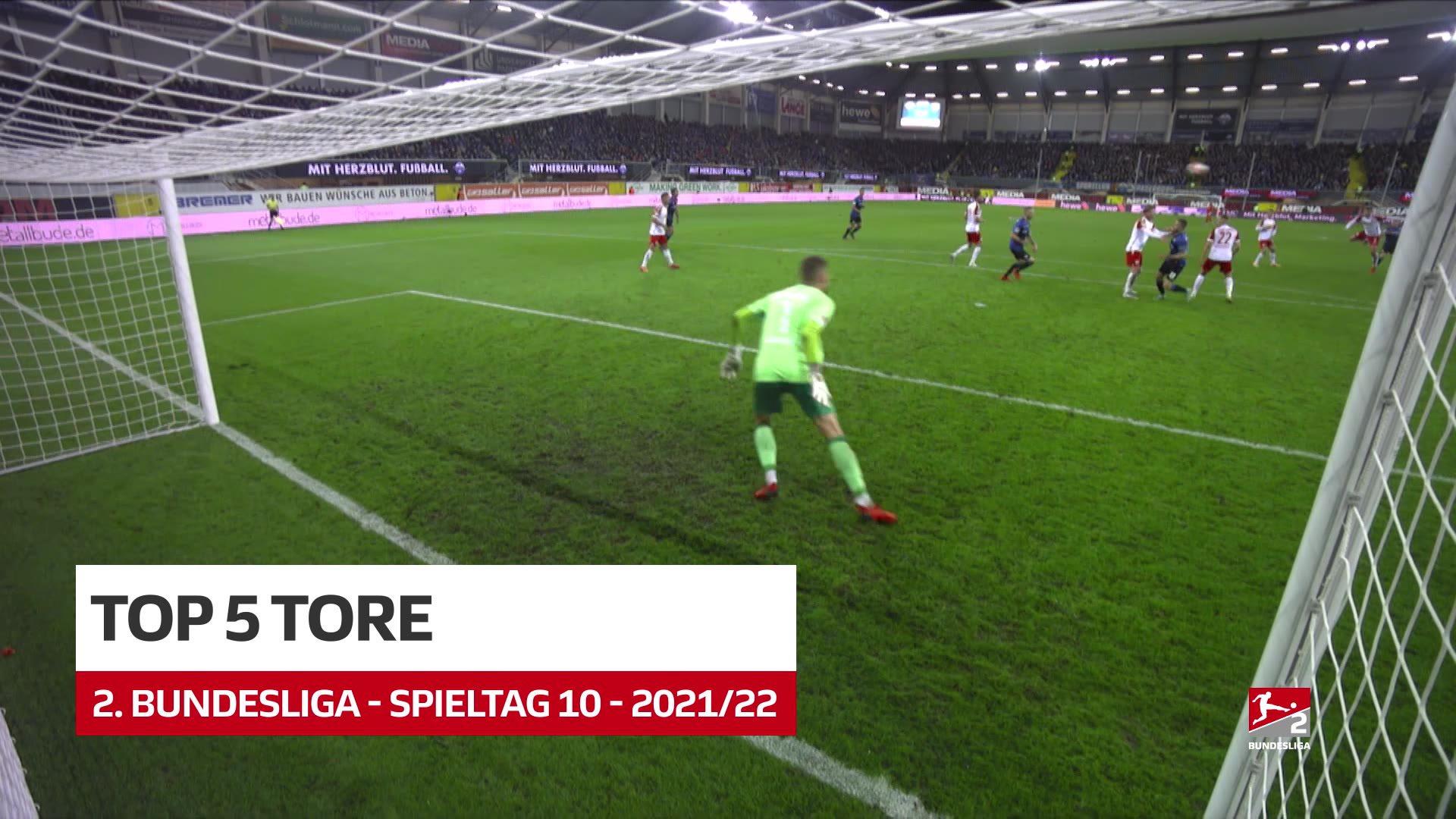 2. Bundesliga: Fünf Top-Tore des 10. Spieltags