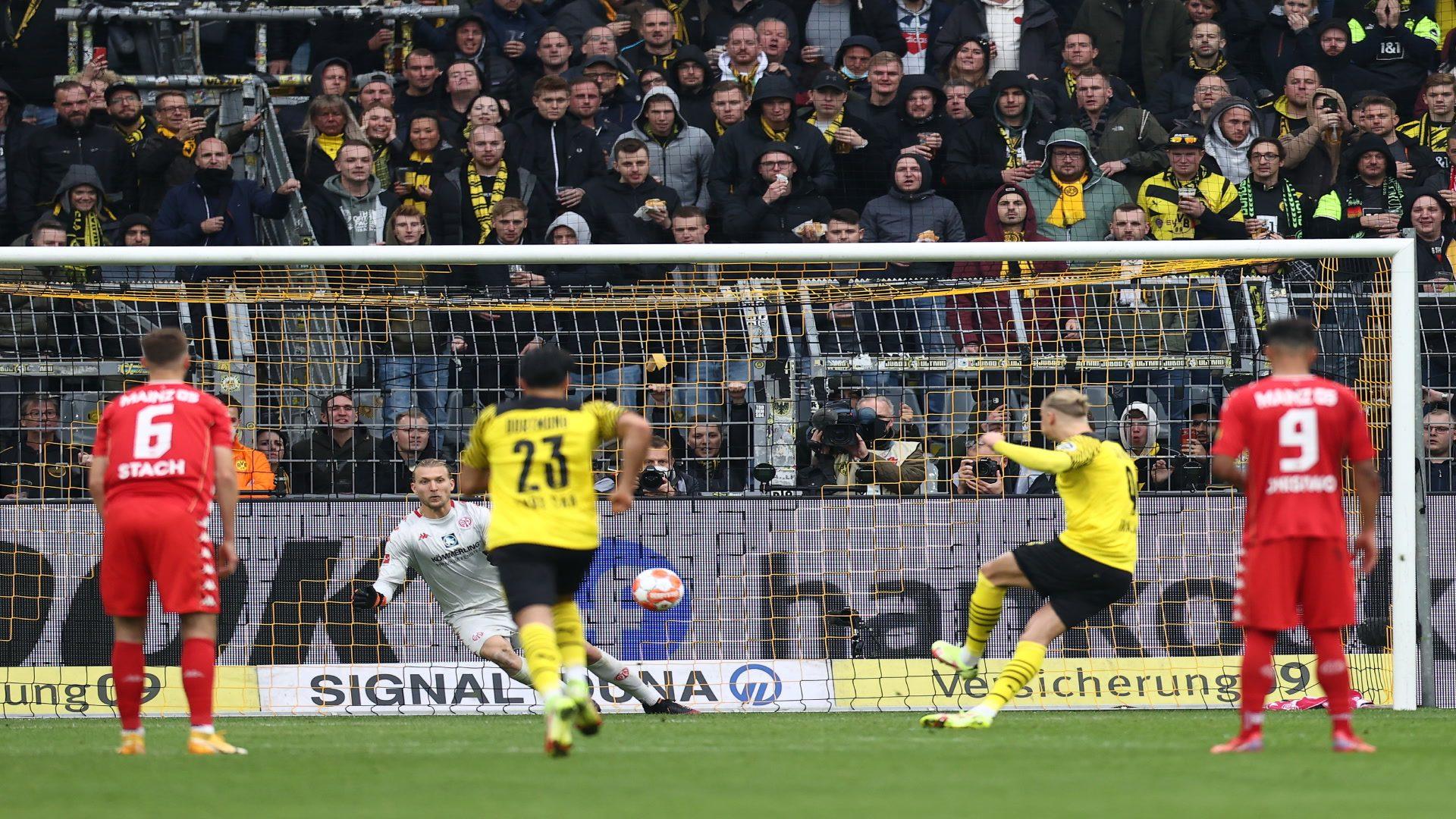 Haaland-Doppelpack: BVB schlägt Mainz mit 3:1
